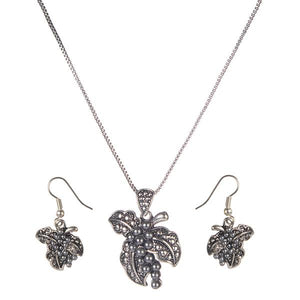 Tiptop Fashions  Rhodium Plated Pendant set  -  Imitation Jewellery - 1202521 - 12025