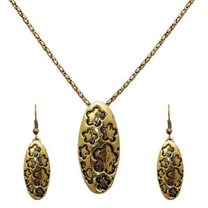 Tiptop Fashions  Shaped Gold Plated Pendant Sets  -  Imitation Jewellery - 1202542 - 12025
