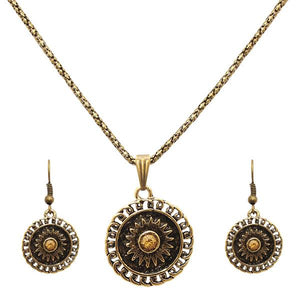 Tiptop Fashions  Round Shaped Gold Plated Pendant Sets  -  Imitation Jewellery - 1202543 - 12025