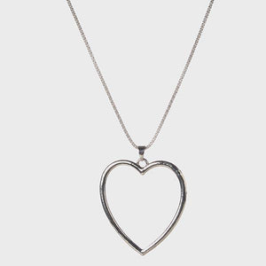 Tiptop Fashions Heart Shape Rhodium Plated  Chain Pendant - 1203006