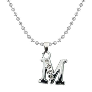 "Tiptop Fashions Rhodium Plated "" M "" Alphabet Chain Pendant - 1203174"