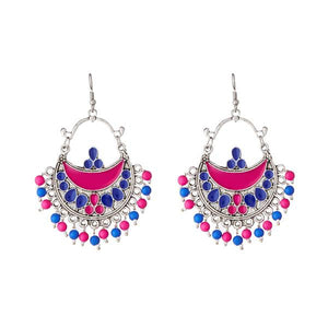 Tiptop Fashions  Meenakari Beads Afghani Earrings - Tiptop Fashions