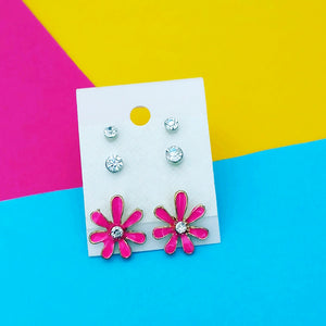 Tip Top Fashions Set of 3 Stud Combo - 1312126D