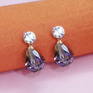 aa7682ea5 Tip Top Fashions Gold Plated White Austrian Stone Stud Earrings - 1312878A