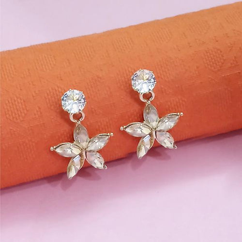 Tip Top Fashions Gold Plated Peach Austrian Stone Stud Earrings - 1312882C