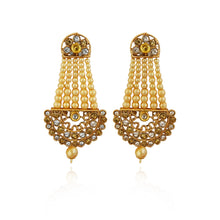 A Pasa Earrings With Austrian Stone and Pearl With Tiptop Fashions  Logo
