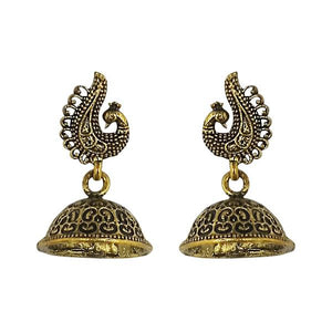 Tip Top Fashions Gold Plated Jhumki Earrings - 1315019A