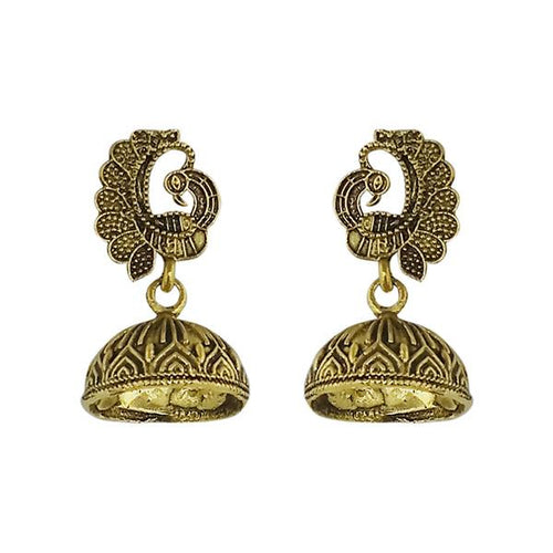 Tip Top Fashions Gold Plated Jhumki Earrings - 1315020A