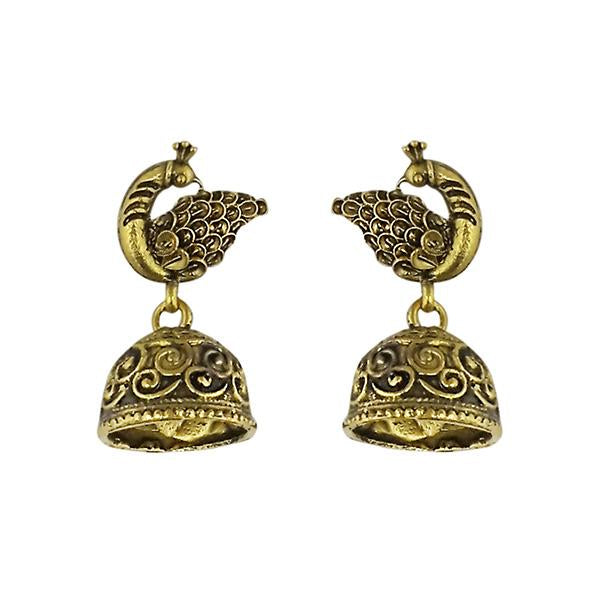 Tip Top Fashions Gold Plated Jhumki Earrings - 1315021A