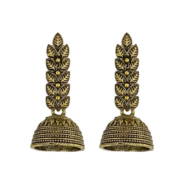 Tip Top Fashions Gold Plated Jhumki Earrings - 1315050A