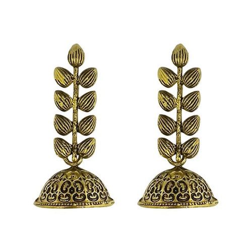 Tip Top Fashions Gold Plated Jhumki Earrings - 1315058A