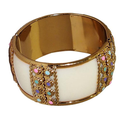 Tip Top Fashions Gold Plated Multicolor Stone Kada - 1400905