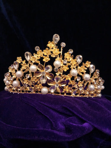 Gold Plated Stone Crown - 1503610