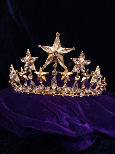 Tip Top Fashions Gold Plated Stone Crown - 1503611