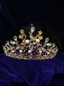 Tip Top Fashions Gold Plated Stone Crown - 1503613