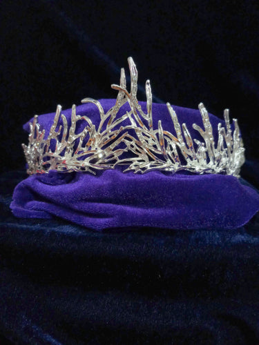 Tip Top Fashions Silver Plated Stone Crown - 1503616