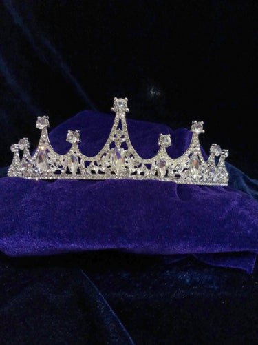 Tip Top Fashions Silver Plated Stone Crown - 1503617