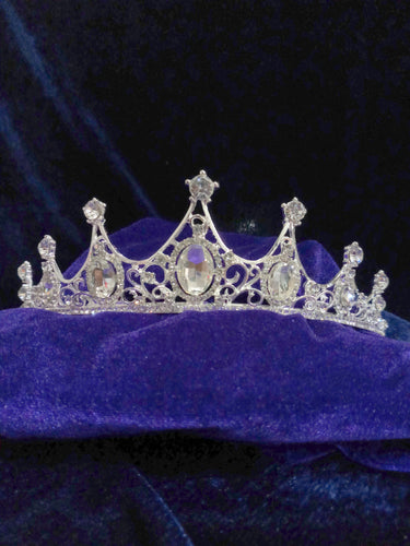 Tip Top Fashions Silver Plated Stone Crown - 1503618