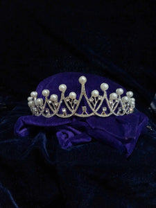 Tip Top Fashions Silver Plated Stone Crown - 1503619