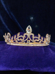 Tip Top Fashions Gold Plated Stone Crown - 1503620