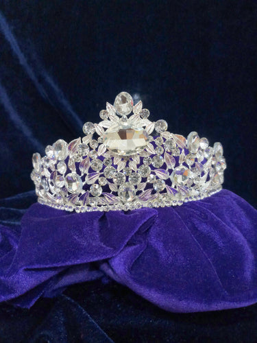 Tip Top Fashions Silver Plated Stone Crown - 1503623