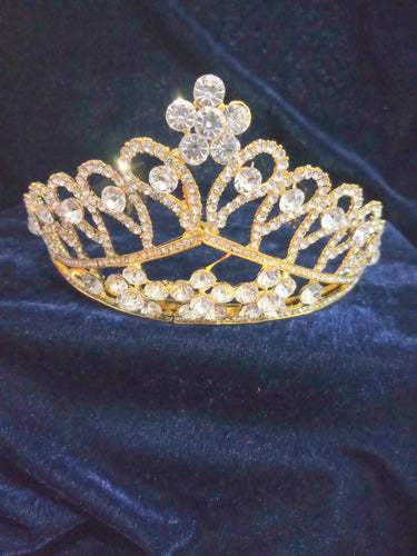Tip Top Fashions Gold Plated Stone Crown - 1503624