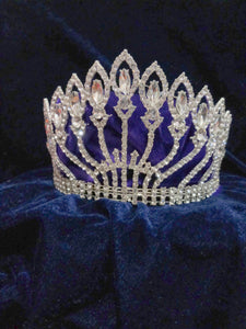 Tip Top Fashions Silver Plated Stone Crown - 1503627