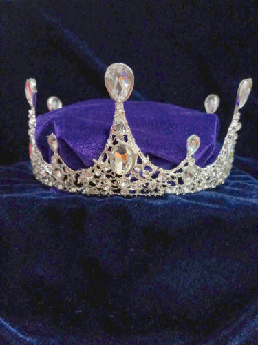 Tip Top Fashions Silver Plated Stone Crown - 1503628
