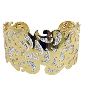 Tiptop Fashions  White Austrian Stone Gold Plated Kada - Tiptop Fashions