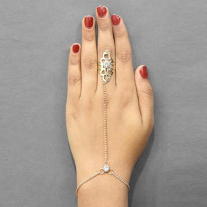 Tiptop Fashions  Gold Plated Austrian Stone Chain Hand Harness - Tiptop Fashions