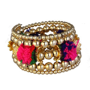 Tiptop Fashions  Gold Plated Multicolor Thread kada - Tiptop Fashions
