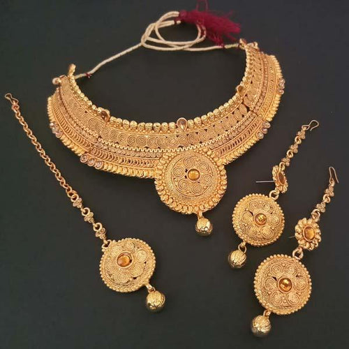 Tiptop Fashions  Copper Necklace Set With Maang Tikka  -  Imitation Jewellery - 1107931 - 11079