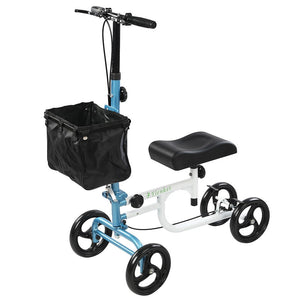 HCT-9125A Steerable Knee Walker Deluxe Medical Scooter for Foot Injuries Compact Crutches Alternative