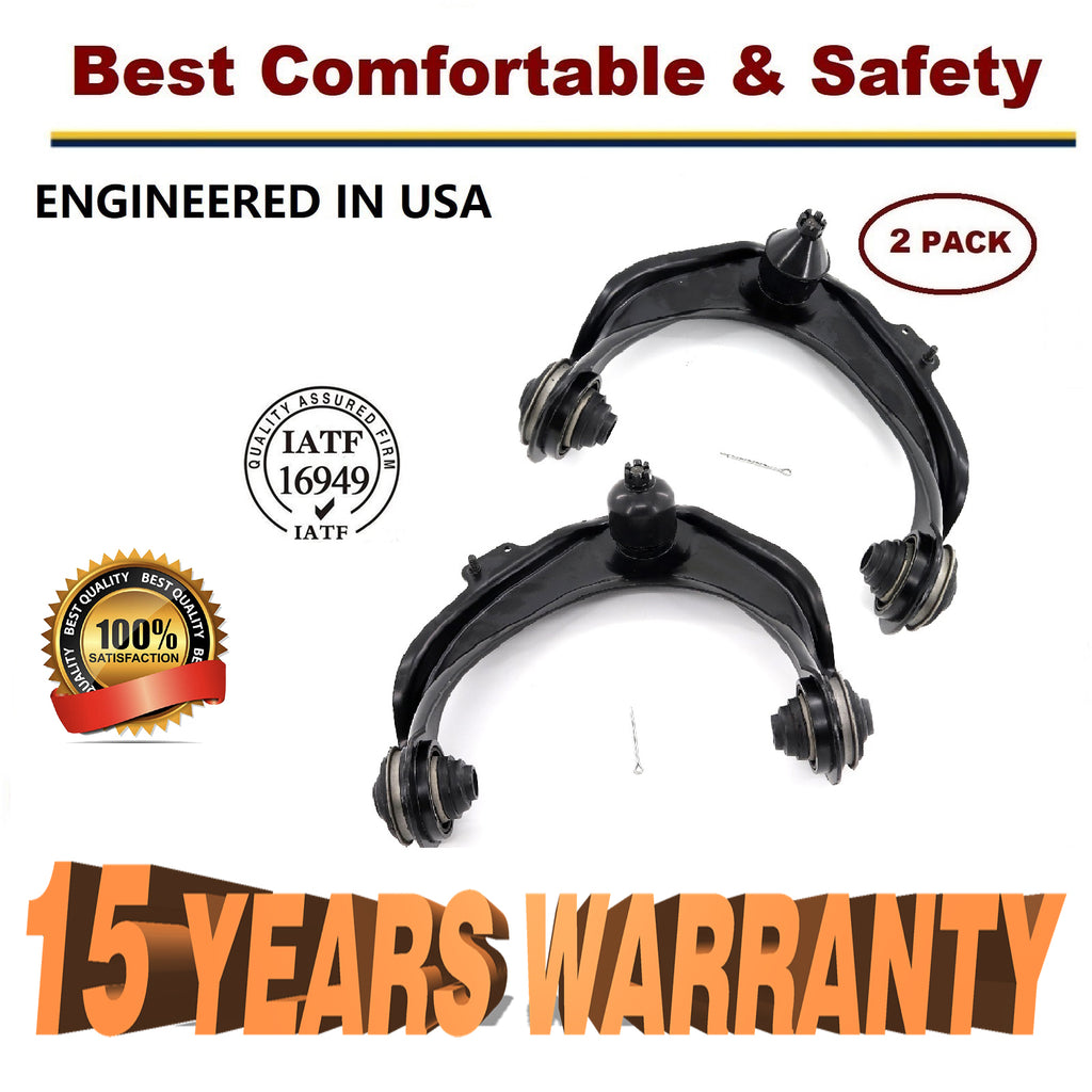 1998 - 2002 Honda Accord Pair Front Upper Control Arms w/Ball Joint & Bushings - 15 YR WARRANTY | 69363451