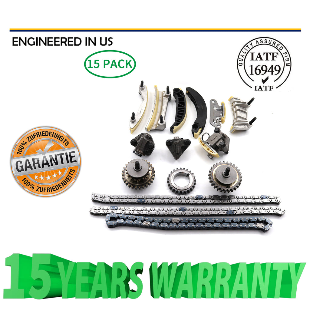 Timing Chain Kit Fit 04-06 Buick Cadillac CTS SRX STS Saab Suzuki 3.6L DOHC 24V | 46024013