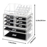 SF-1122-1 Cosmetics Storage Rack with 6 Small & 2 Large Drawers Transparent | 16250168