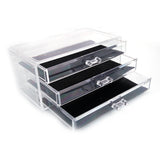 SF-1005-1 Plastic Cosmetics Storage Rack 3 Large Drawers Transparent | 35360832