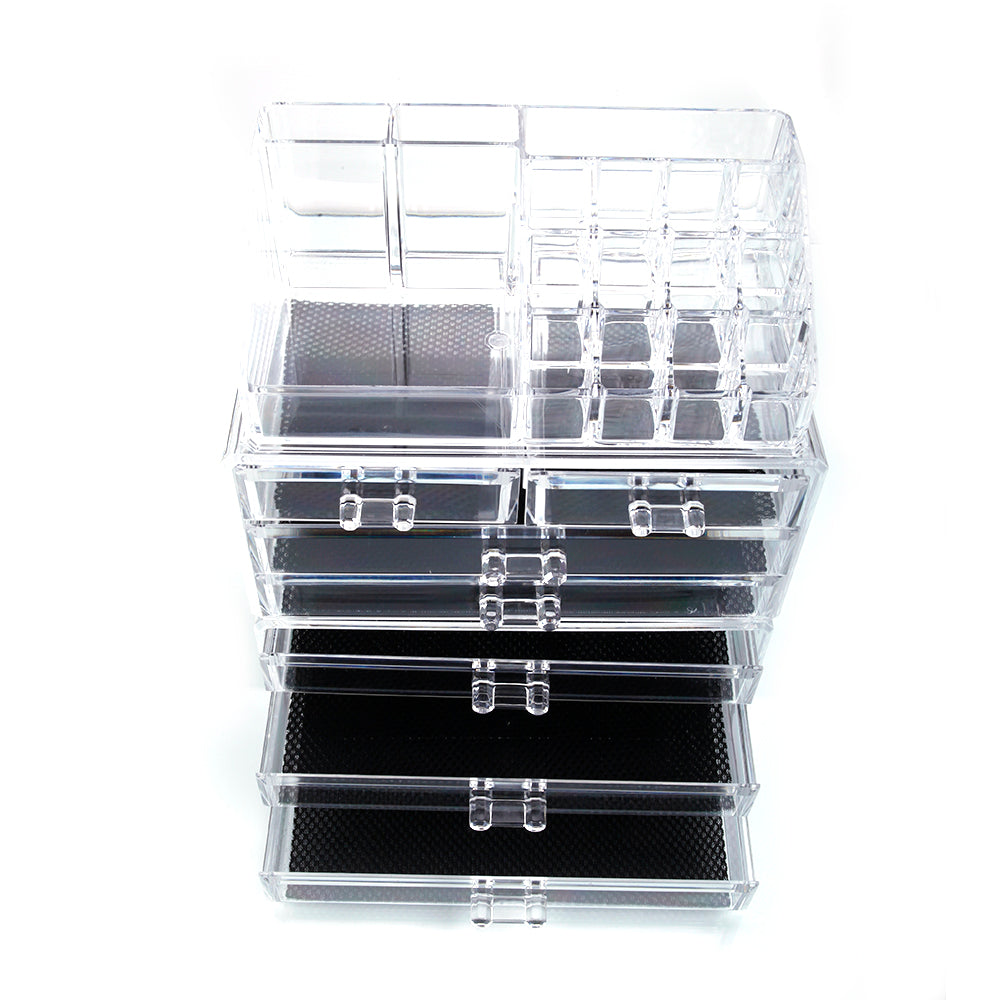 SF-1122-1 Cosmetics Storage Rack with 2 Small & 5 Large Drawers Transparent | 48917167