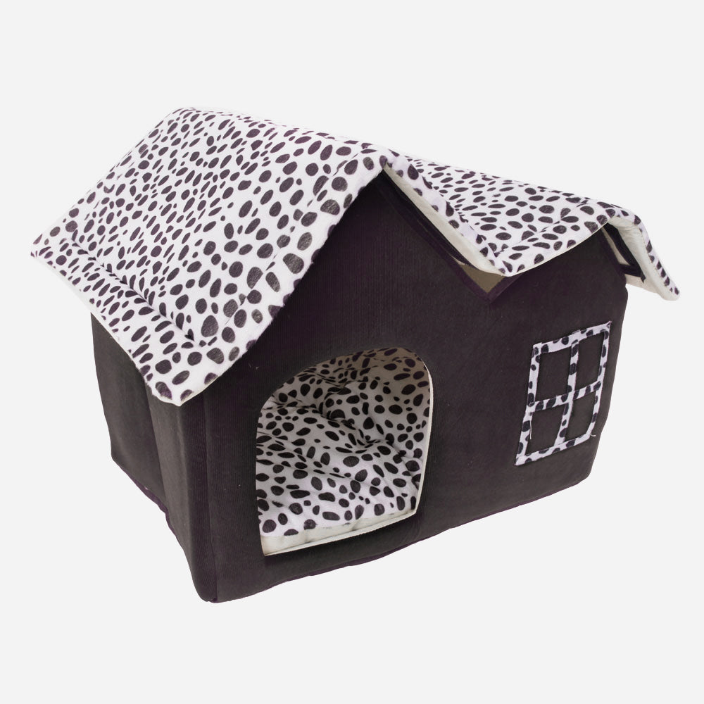 Super Soft British Style Pet House Size M Coffee | 89879422
