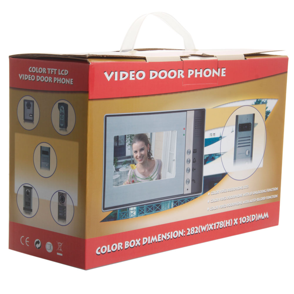 "SY801M11 7"" One-to-One Color Display Wired Video Door Phone Doorbell 
