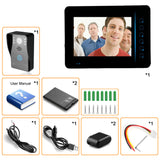 "SY815A11 7"" TFT Touch Panel Waterproof Nightvision Wireless Video Door Phone Doorbell Intercom Kit w 