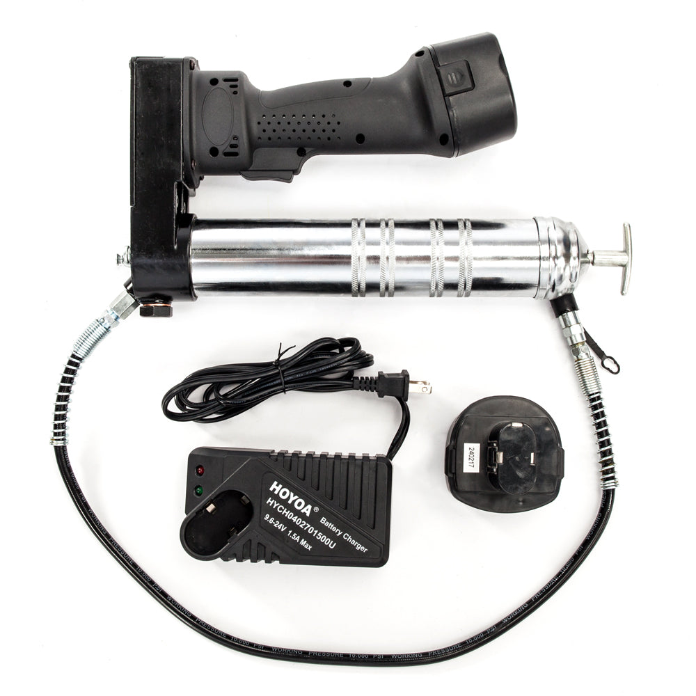TH-1103 12V Electric Cordless Rechargeable Grease Gun Black | 59044624