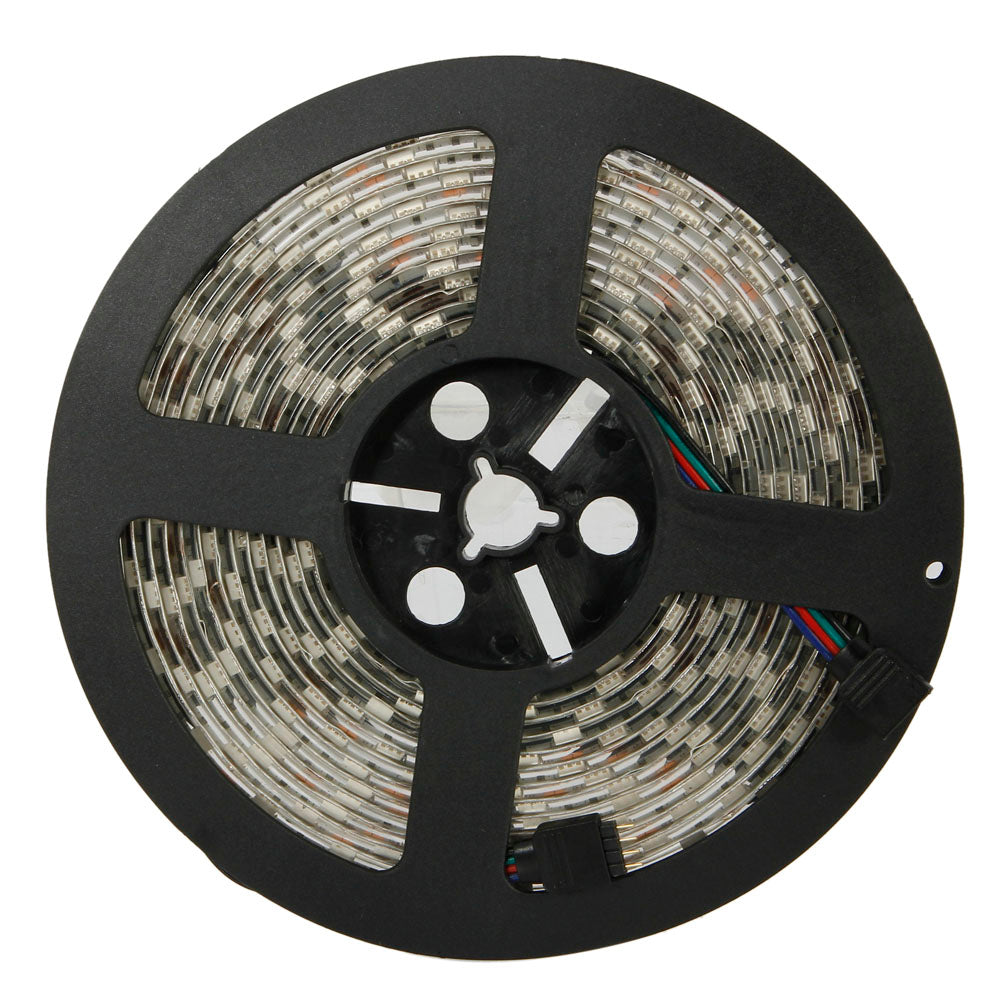12V 5M SMD5050 300-LED RGB-IR44 Epoxy Waterproof LED Light Strip Set (72W White Lamp Plate)  | 10234880