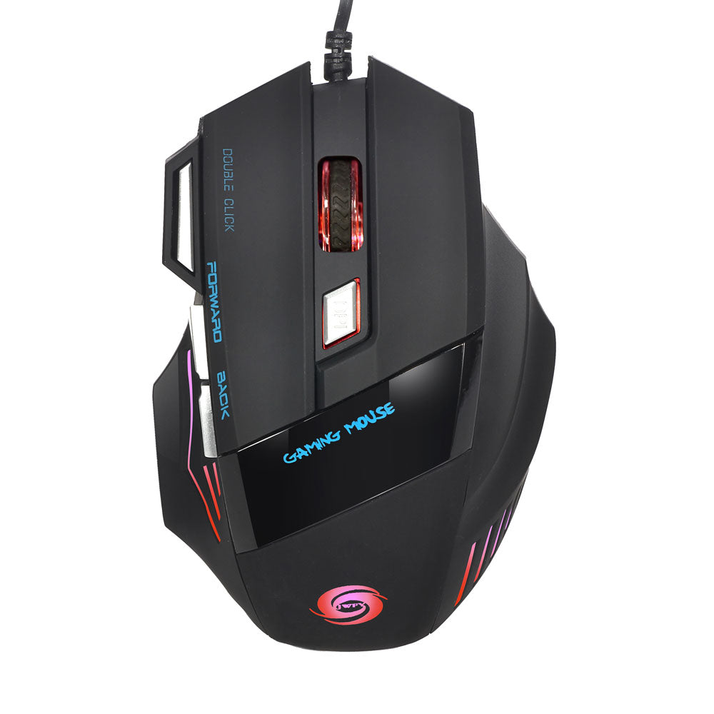 A868 Fantastic Alternating Light USB 2.0 7-Button Wired Game Mouse Black | 89758780
