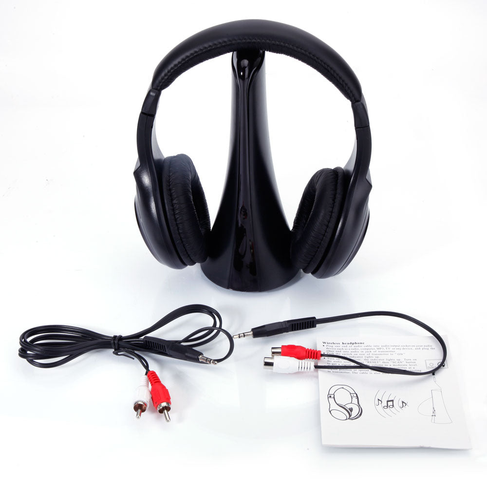 WH-211 4-in-1 Transmitter Receiver Intelligent Wireless Headphone Black | 84518621