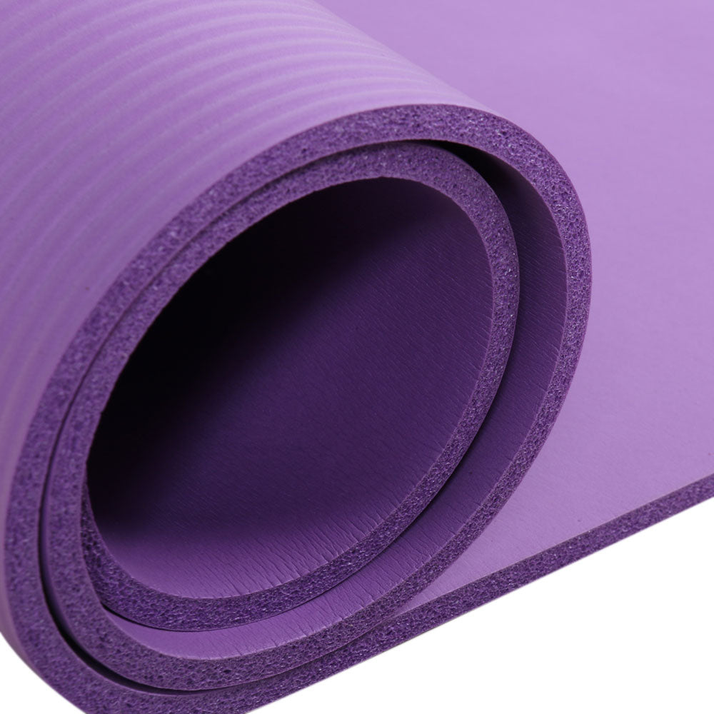 8mm Thickened NBR Pure Color Anti-skid Yoga Mat 183x61x0.8cm Purple | 02410799