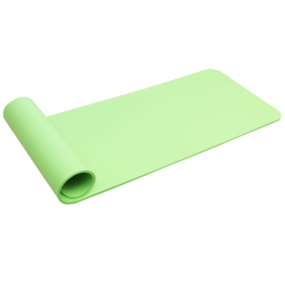 10mm Thick NBR Pure Color Anti-skid Yoga Mat 183x61x1cm Green | 91407952