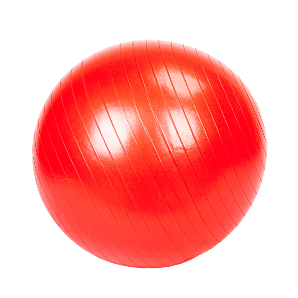 65cm 1050g Gym/Household Explosion-proof Thicken Yoga Ball Smooth Surface Red | 09343616