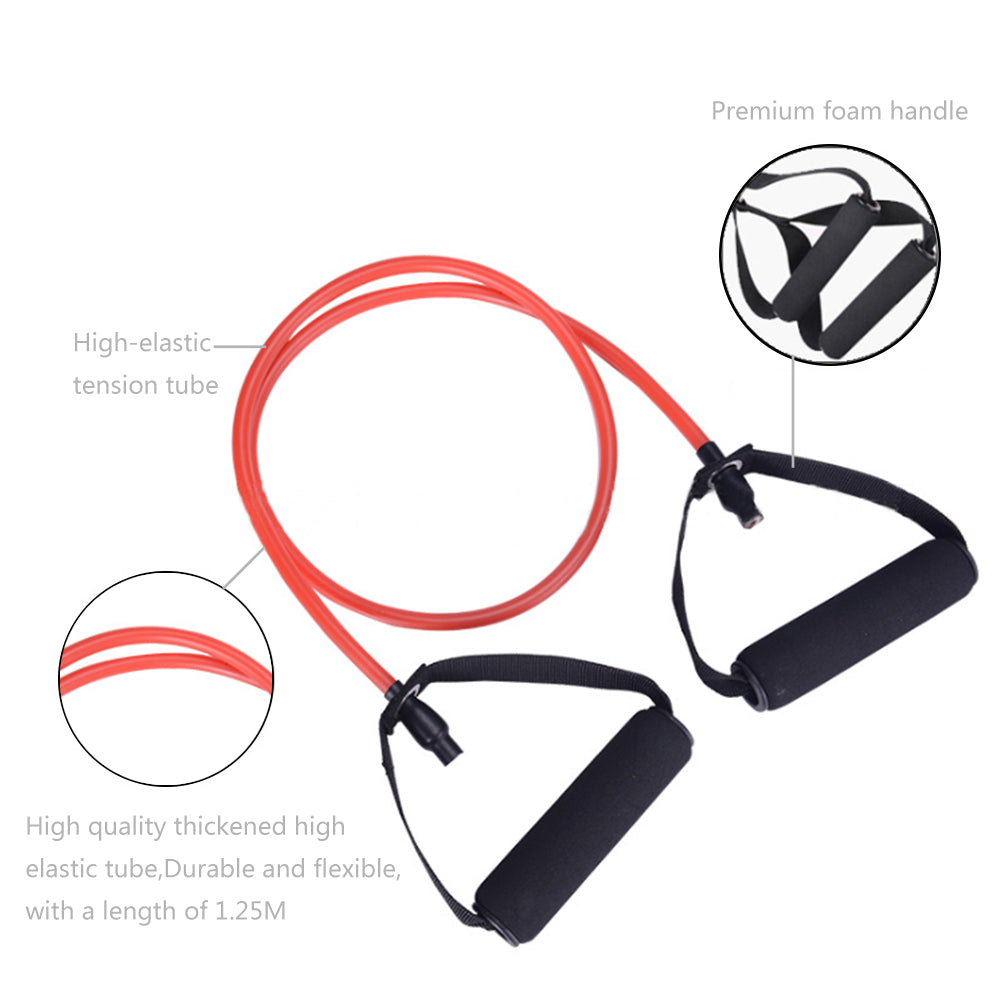 5 in 1 Natural Latex Fitness Resistance Bands Strength Training Set | 05183738