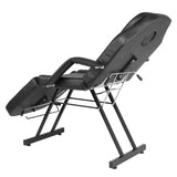 Adjustable Beauty Salon SPA Massage Bed Tattoo Chair with Stool Black | 24836008